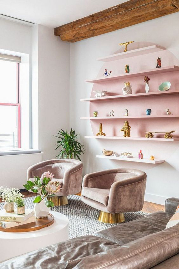 Floating-shelves-as-feature-wall