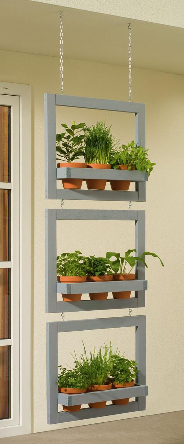 Hanging-pottery-vertical-garden