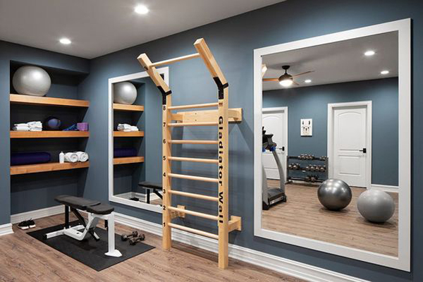 Simple-indoor-exercise-room