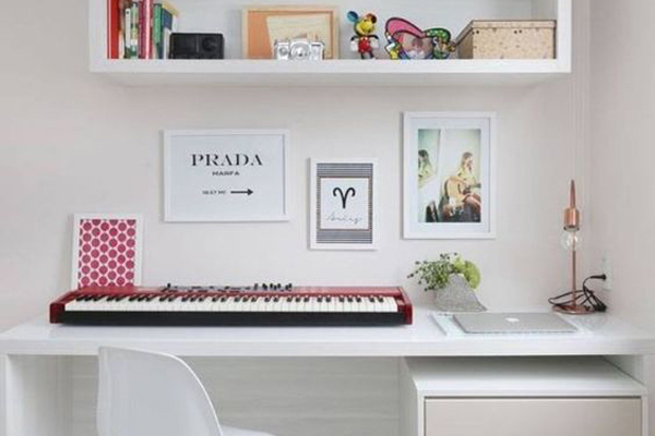 Work-place-and-music-instruments