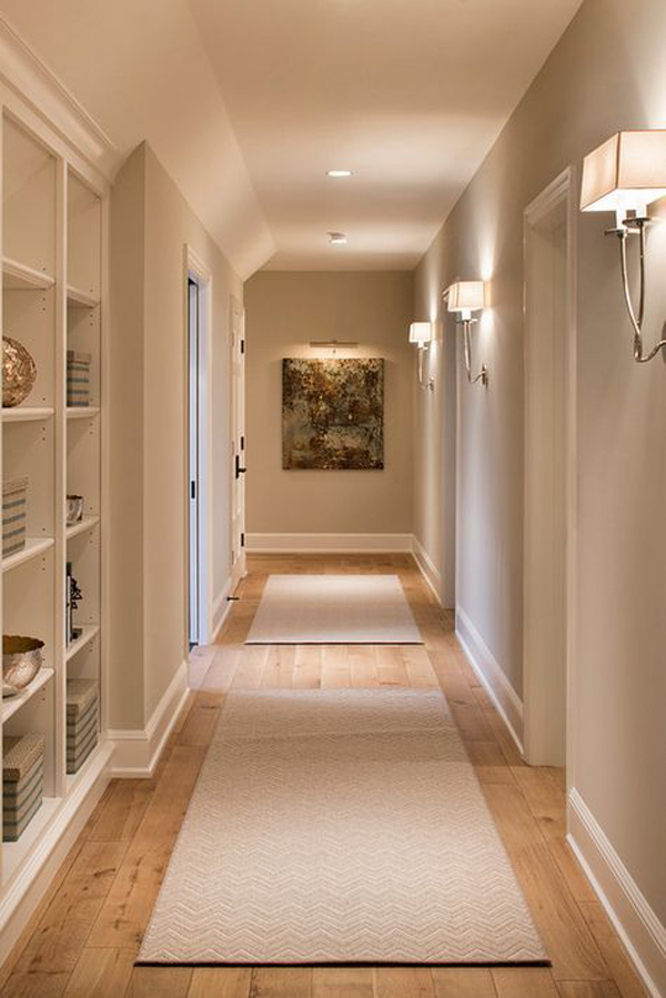 Adding-rug-and-beauty-lighting-in-the-hallway