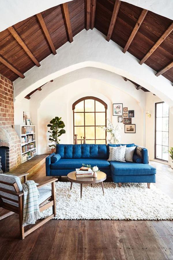 Blue-velvet-living-room-sofa