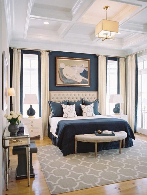 Blue-velvet-theme-of-bedroom-decoration