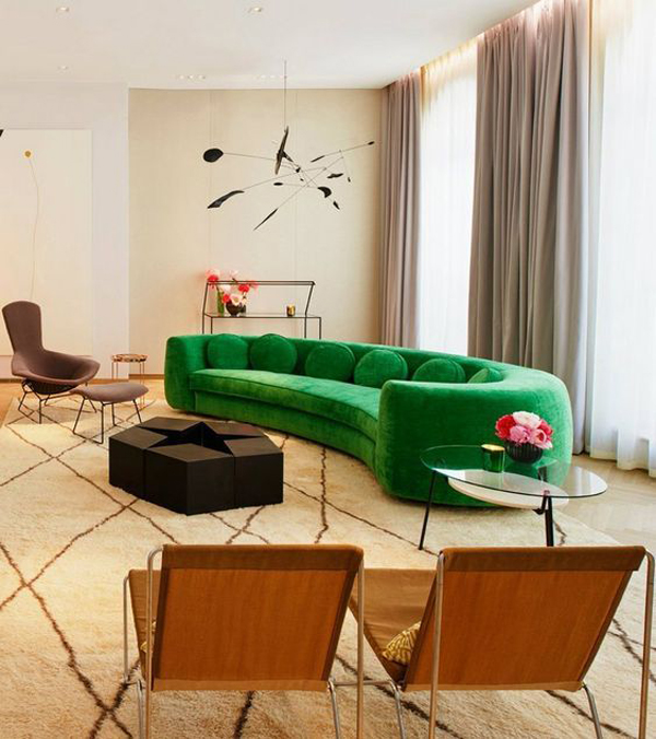 Curved-green-sofa-living-room
