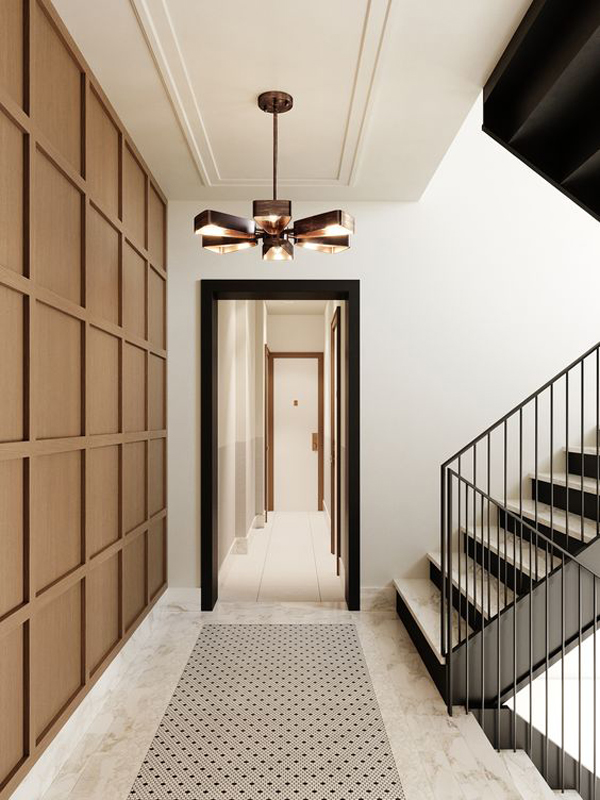 hallway-of-house-with-adding-several-door