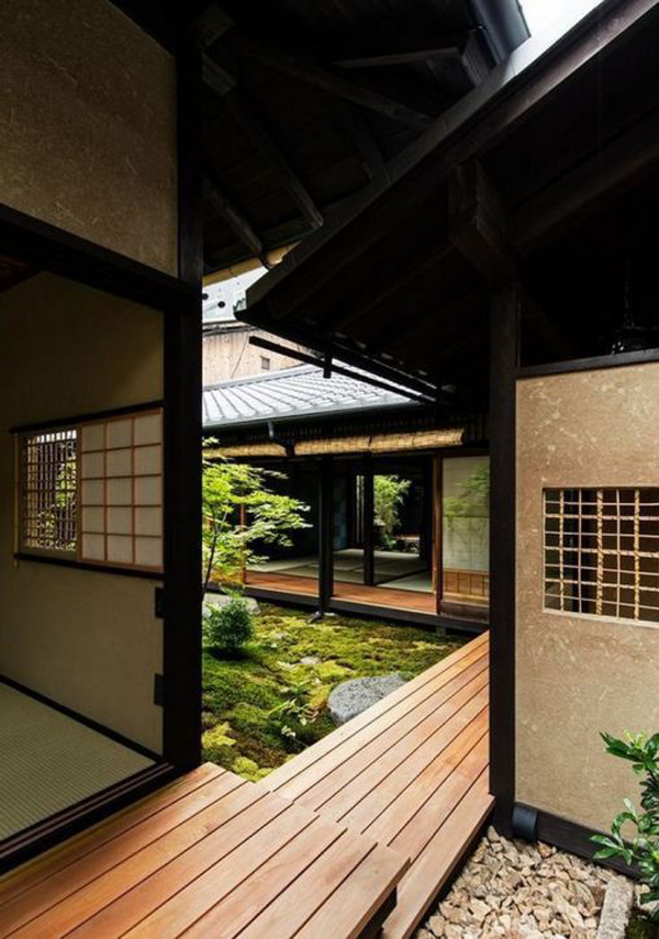 Wooden-walk-in-the-house