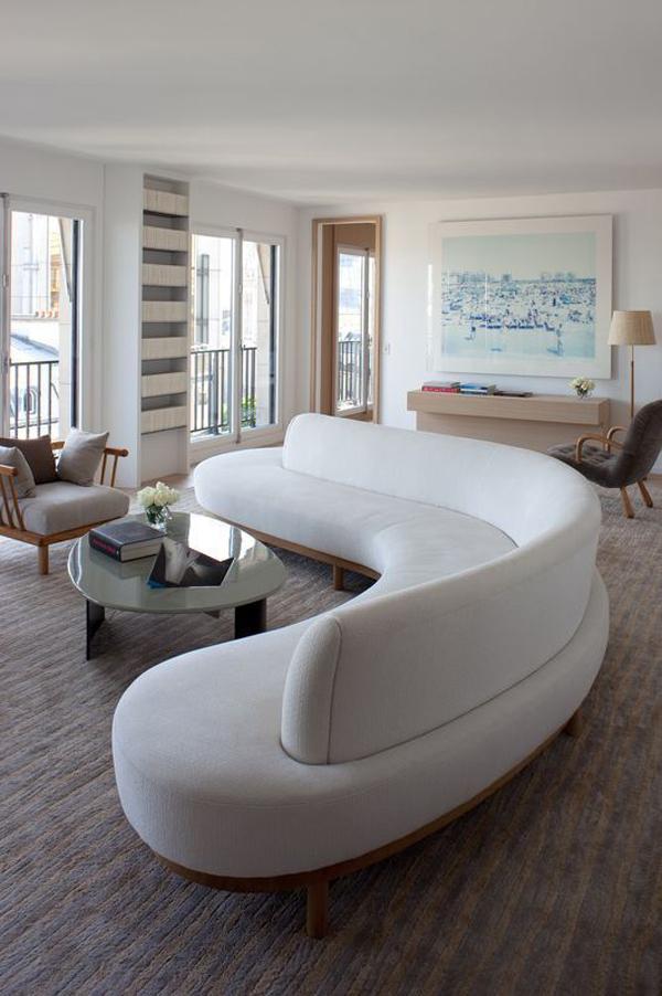 sleek-white-curved-sofa