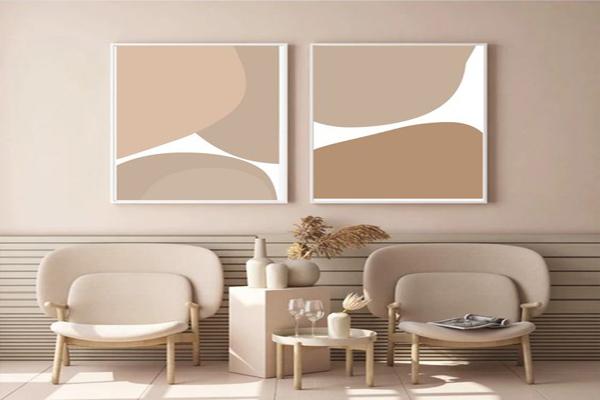 Interior-absract-wall-design