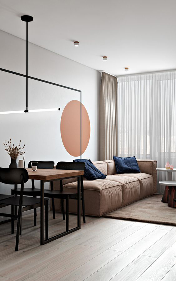 Living-room-trends-with-geometric-wallpaper