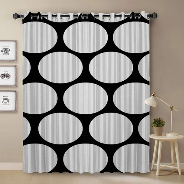 Monochrome-curtain-for-bedroom