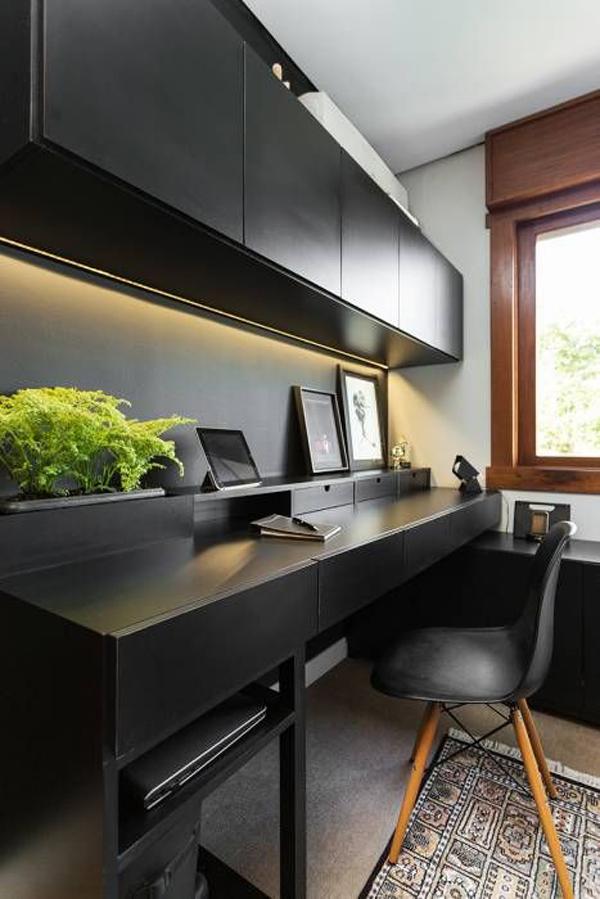 Monochrome-office-desk-ideas