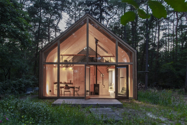 Modular-house-night-view