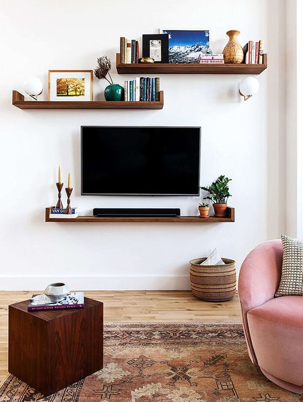 TV-wall-and-shelves