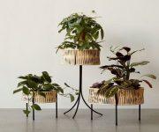 black-rattan-standing-planter