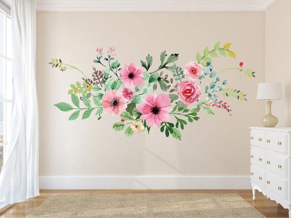 boho-rose-mural-wallpaper