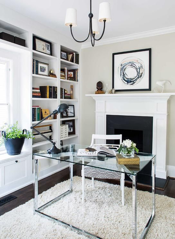 chic-home-glass-desk