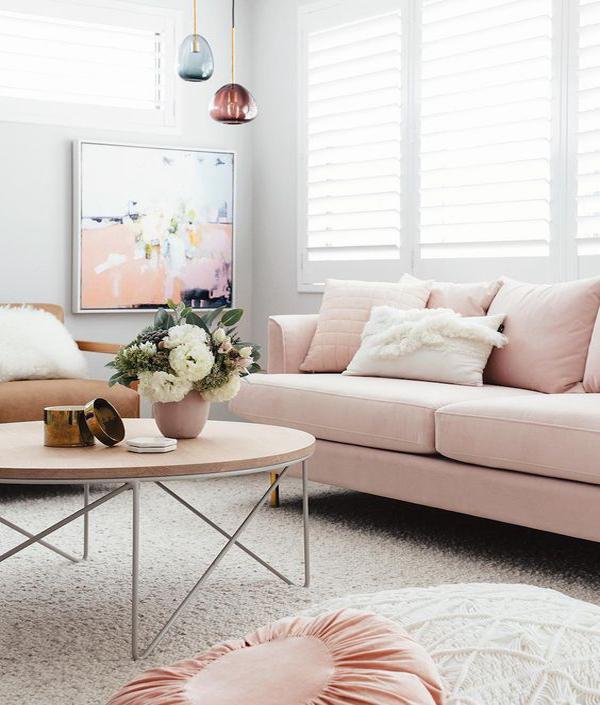nude-pink-living-room-sofa