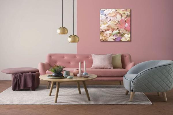 nude-pink-living-room-design