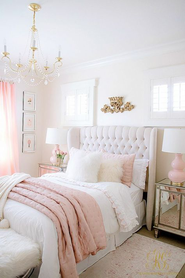 pink-and-white-bedroom-decoration
