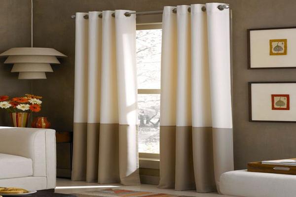 A-brown-curtain