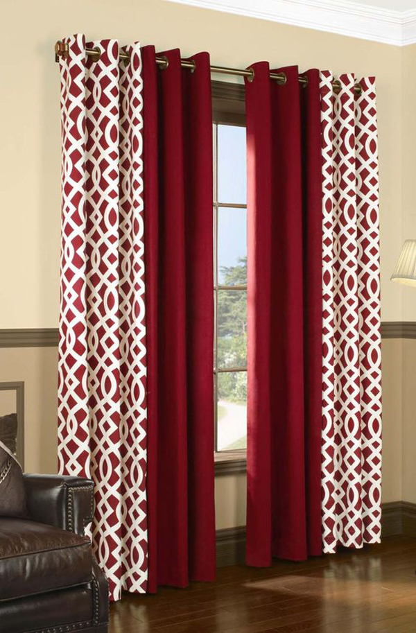 A-red-and-white-curtains