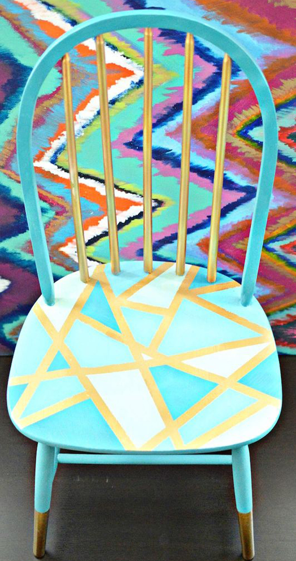 Beautiful-DIY-chair-makeover