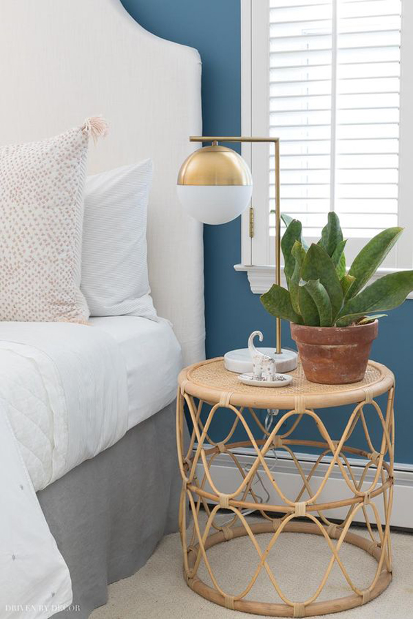 Bedroom-makeover-with-adding-wicker-table