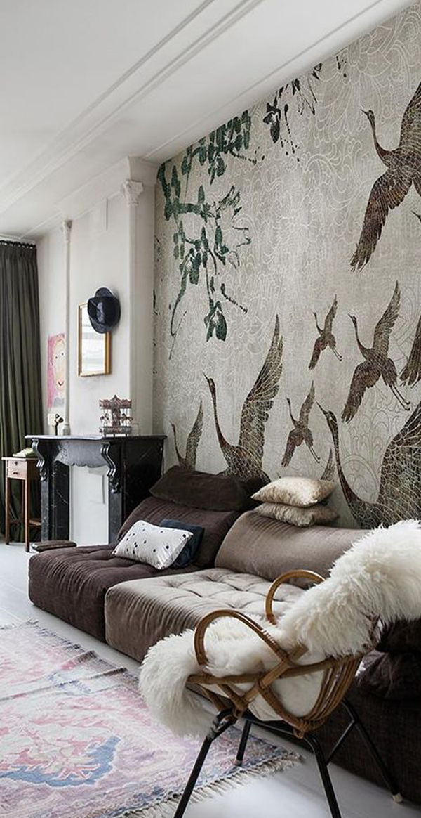 Birds-mural-wallpaper