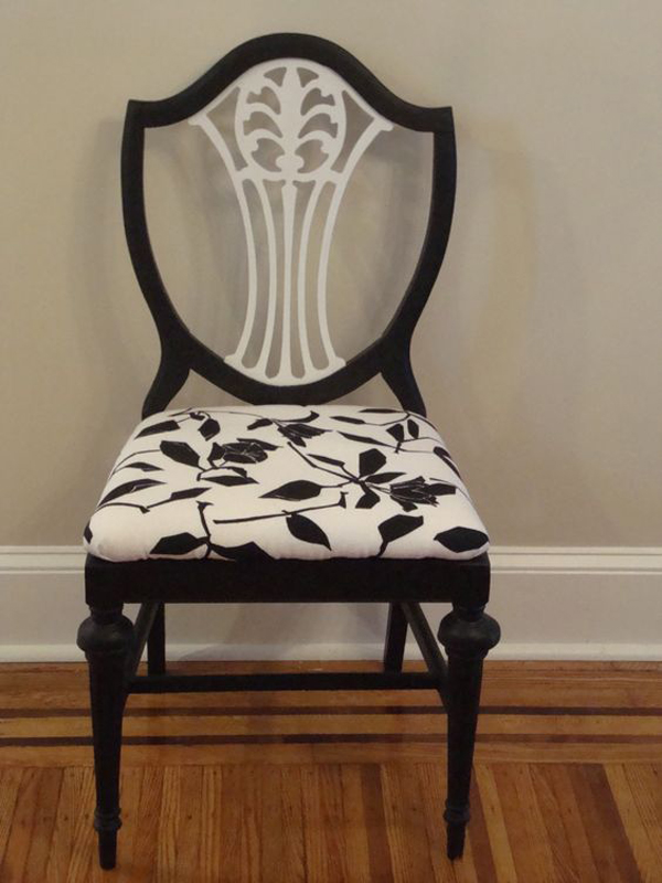 Black-and-white-wooden-chair-color