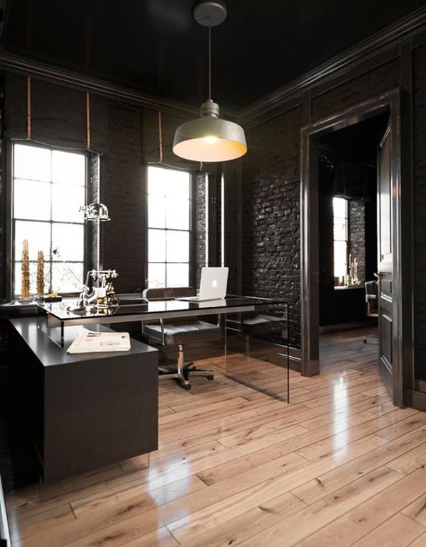 Black-oak-interior-office-room