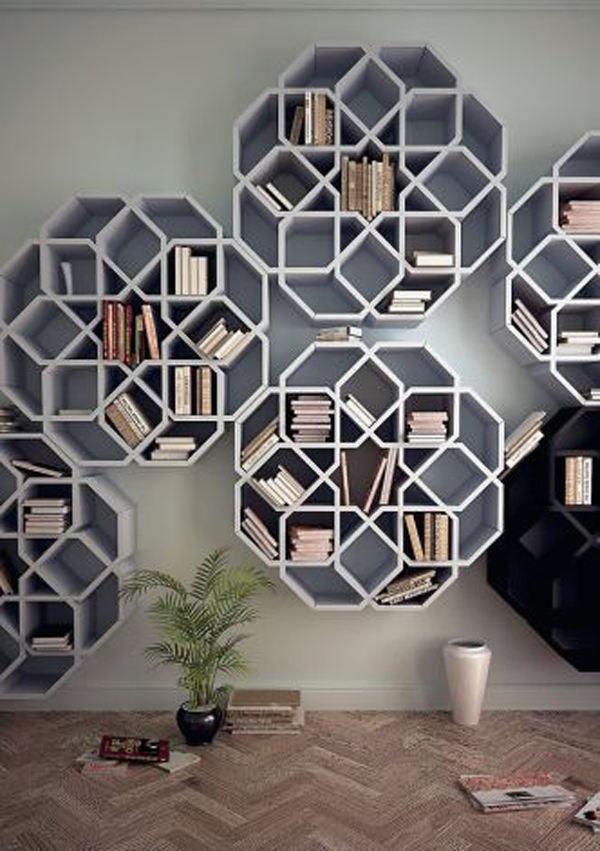 Bookcase-honeycomb