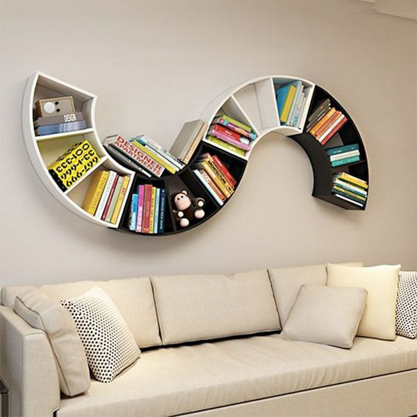 Bookcase-with-letter-s-shape