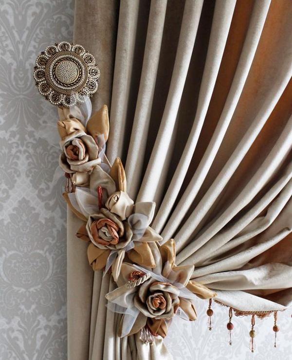 Cream-curtains
