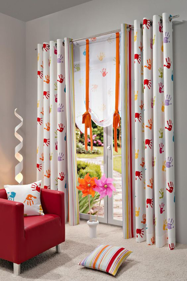 Curtains-with-hand-stamp-design