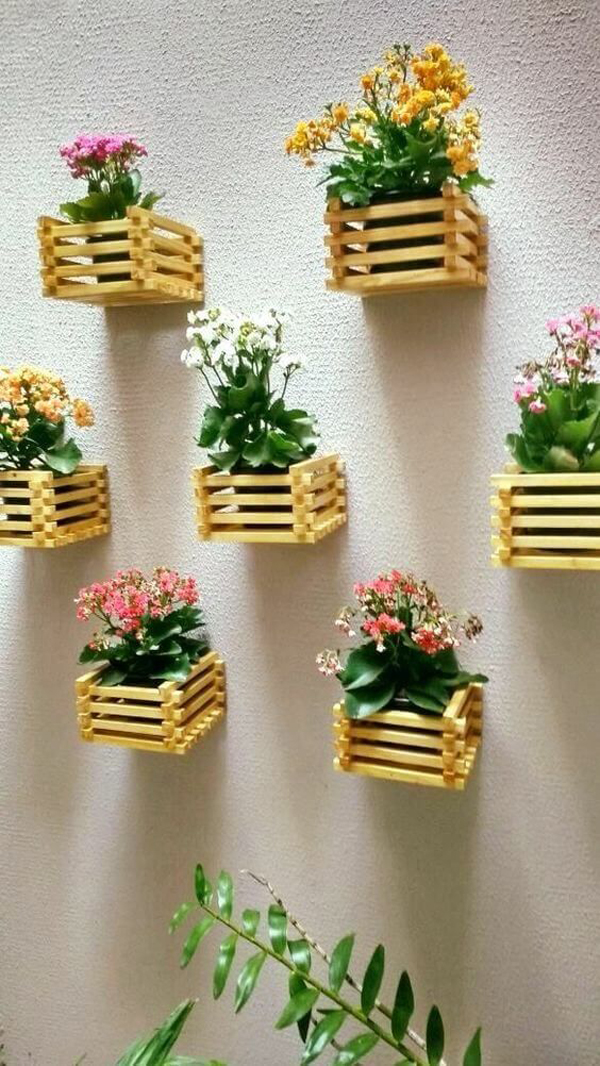 DIY-Vertical-garden-with-small-wooden-boxes