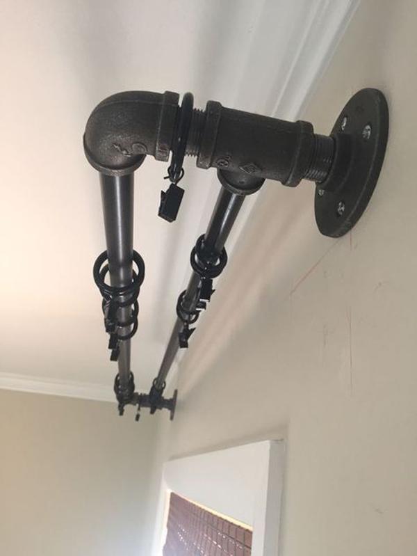 Double-industrial-curtain-rod