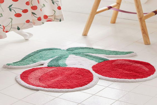 Floor-mat-with-cherry-shapes