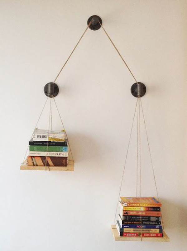 Gravity-defying-bookcase