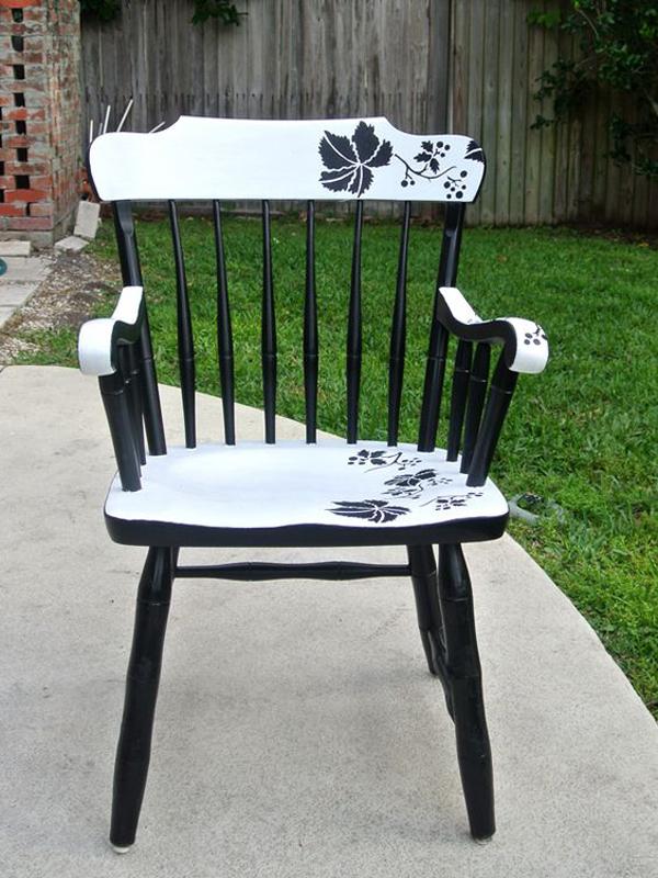 Modern-floral-chair-design