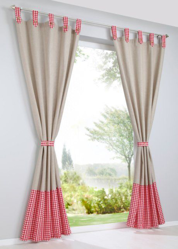 Pink-and-bright-brown-curtains-color