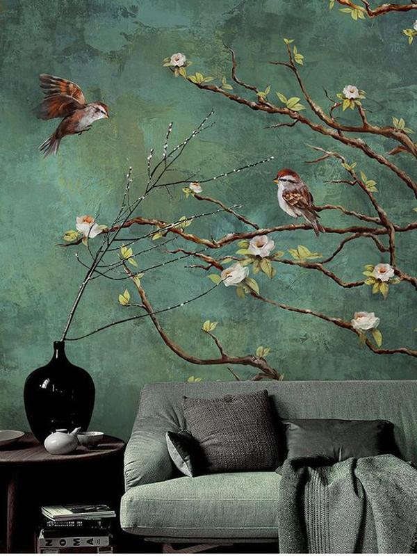 Vintage-dark-birds-wallpaper