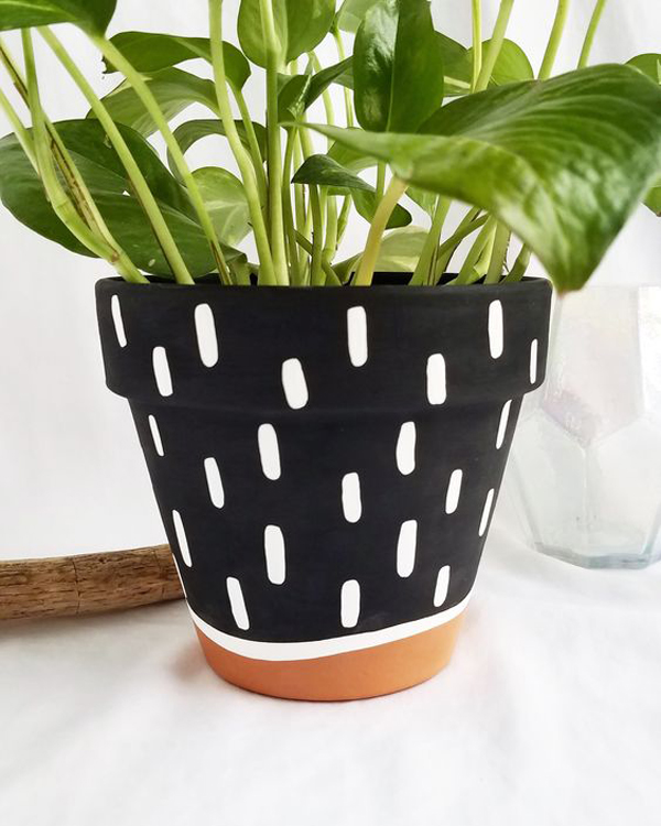 Wavy-terra-cotta-planter