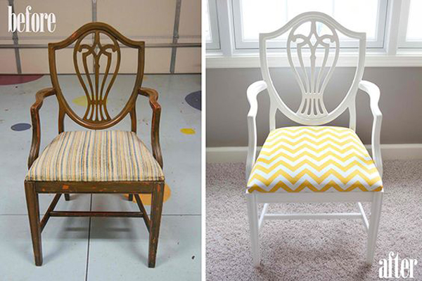 Wooden-chair-makeover-becomes-bright-and-beautiful