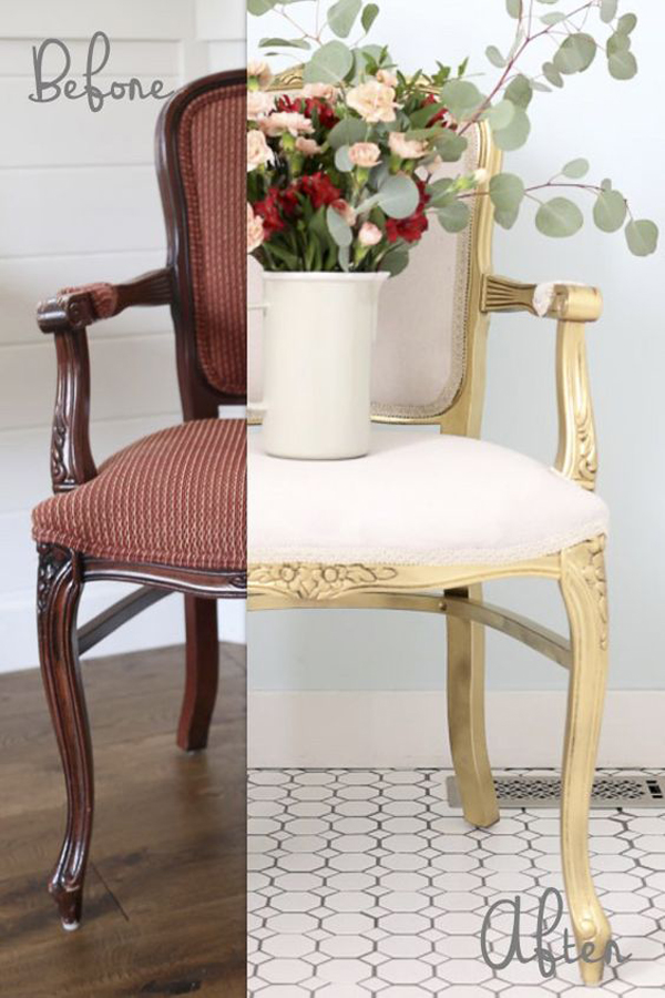 Wooden-chair-makeover