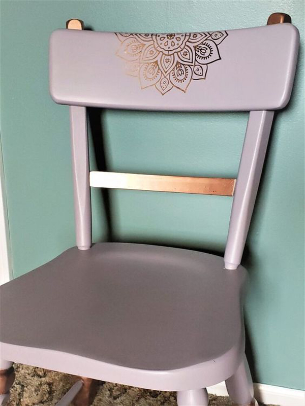 Wooden-chair-with-flower-paint