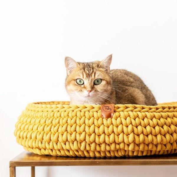 Yellow-cat-basket