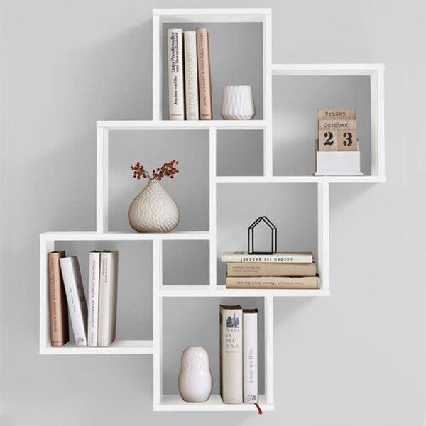 a-white-bookcase