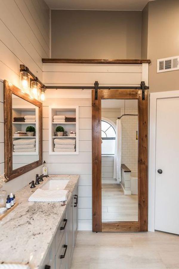 wooden-door-in-the-framehouse-bathroom