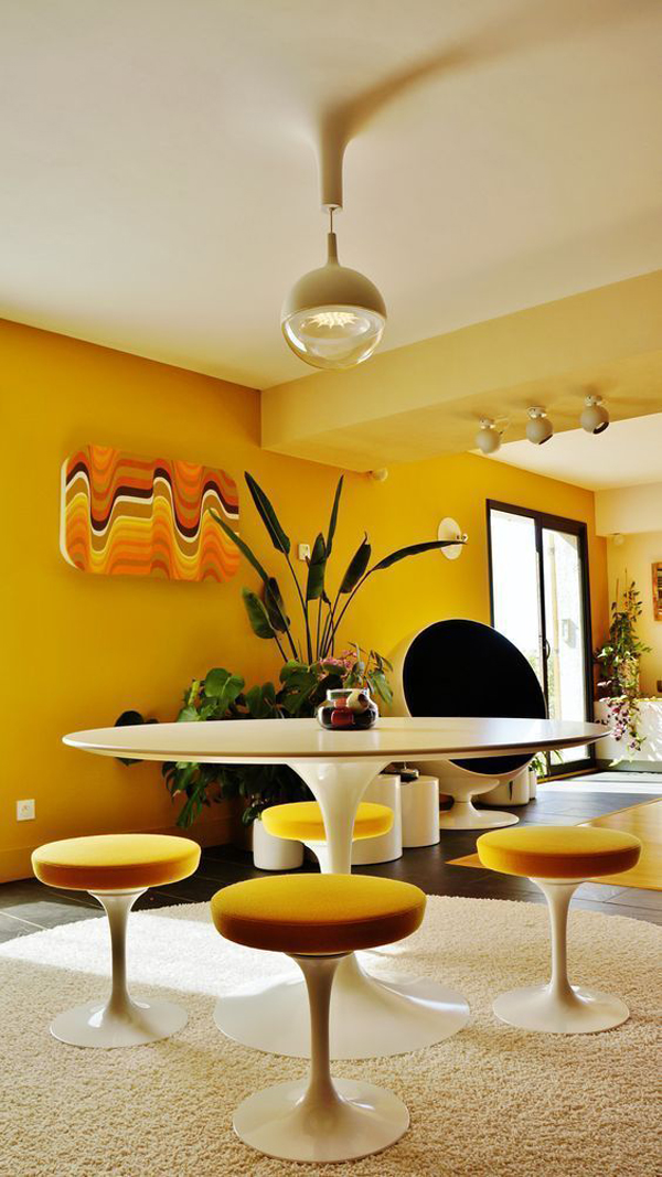 Amazing-yellow-interior-on-your-dining-room-design