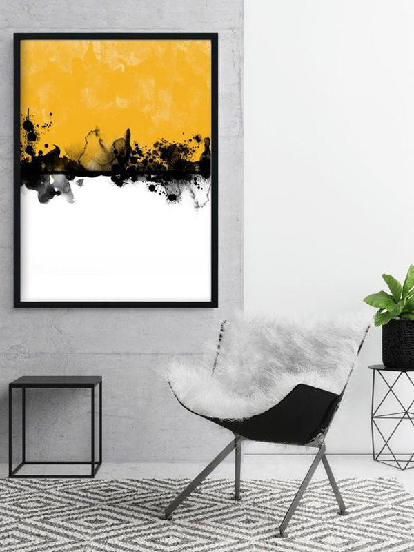 Black-and-white-canvas-oil-painting
